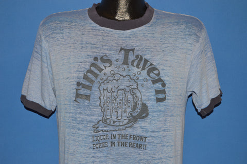 80s Tim's Tavern Liquor In The Front Distressed t-shirt Medium