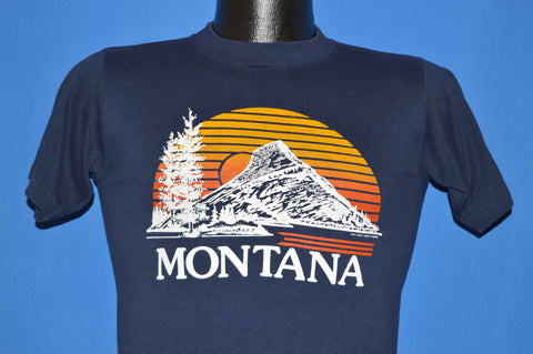 80s Montana Sunset Mountain Forest t-shirt Small