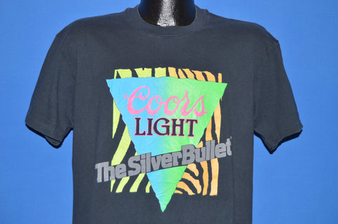 90s Coors Light Silver Bullet Neon t-shirt Large