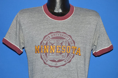 80s Minnesota Golden Gophers Ringer t-shirt Medium
