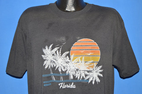 80s Florida Sunset Palm Trees t-shirt Extra Large