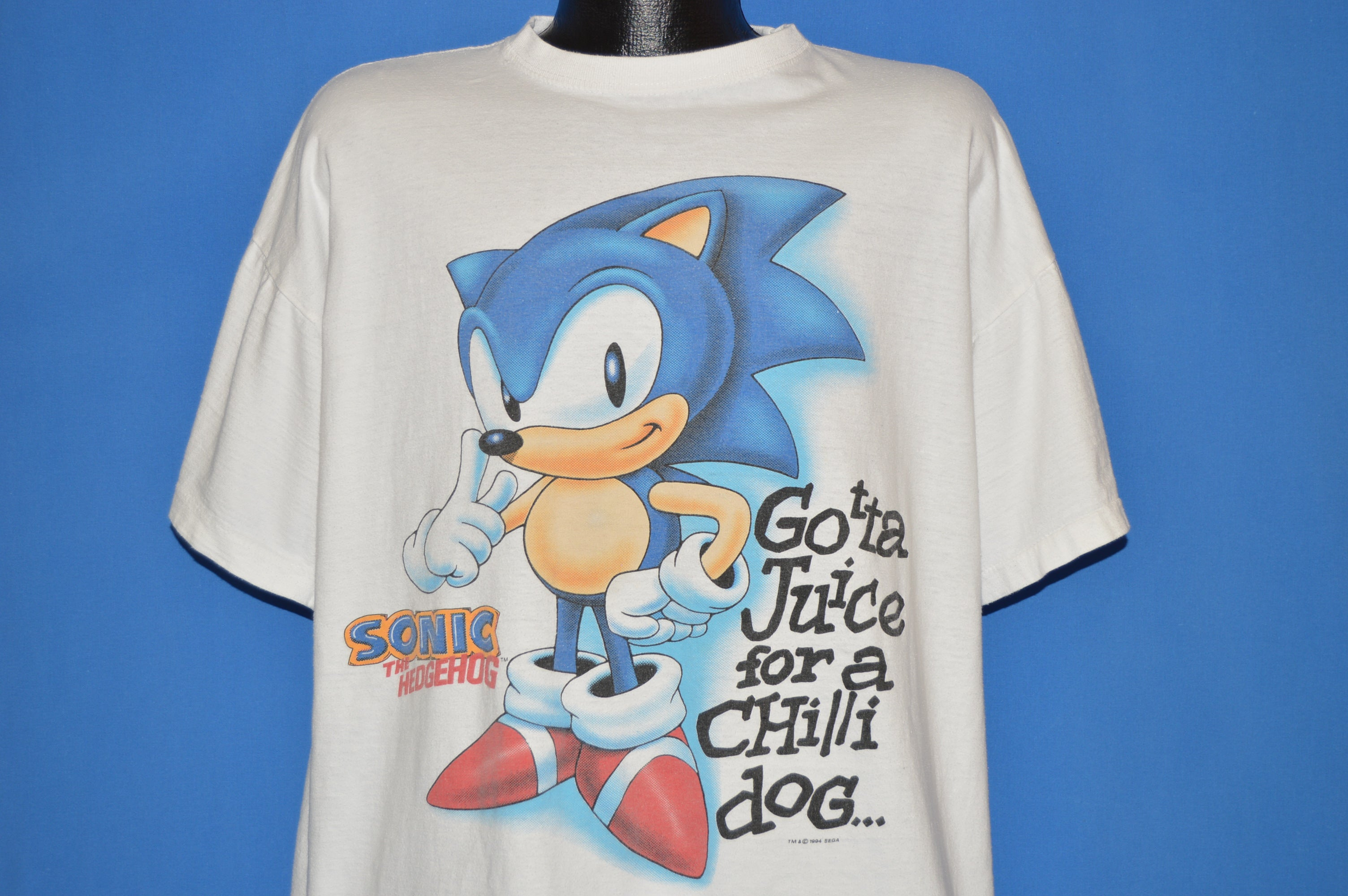 90s Sonic The Hedgehog And Knuckles Sonic 3 T Shirt Extra Large