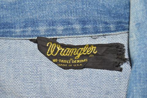 70s Wrangler J 651 Jean Trucker Jacket Medium