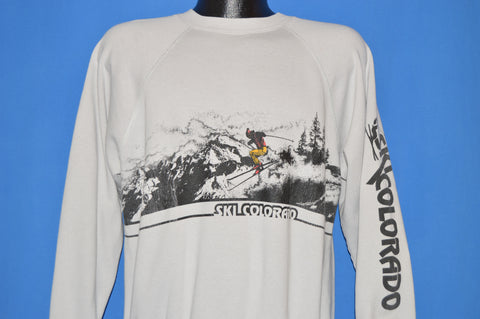 80s Ski Colorado Double Sided Long Sleeve Sweatshirt Large
