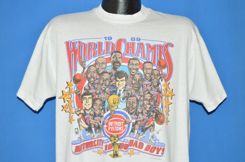 80s Detroit Pistons 89 World Champ Bad Boys t-shirt Extra Large