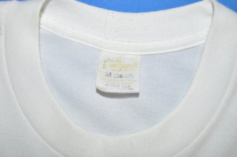 70s Sears White Under Shirt t-shirt Small