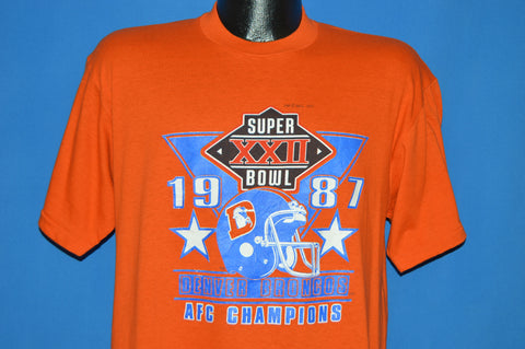 80s Denver Broncos 1987 Super Bowl XXII t-shirt Large