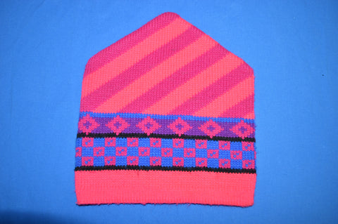 80s Wigwam Pink Winter Hat