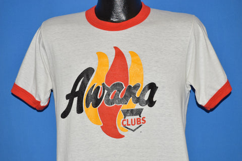 80s Awana Clubs Flames Ringer t-shirt Medium