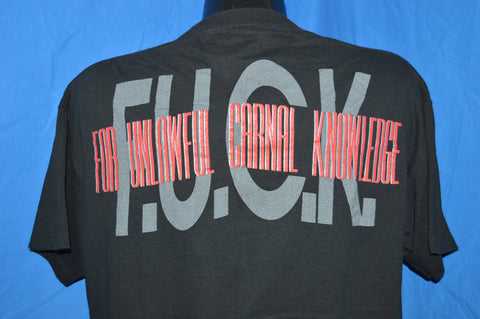 90s Van Halen F.U.C.K. For Unlawful Carnal Knowledge Rock Album t-shirt Extra-Large