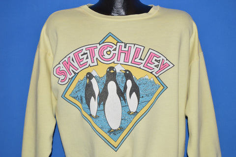80s Sketchley Cleaners Penguin Sweatshirt Extra Large