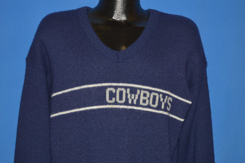 80s Dallas Cowboys NFL Knit Wool Sweater Medium