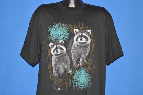 90s Raccoons Night Time Wilderness t-shirt Extra Large