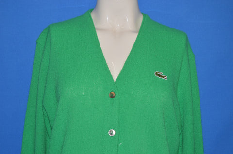70s Haymaker Lacoste Green Women's Cardigan Sweater Large