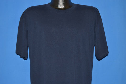 80s Navy Blue Blank t-shirt Extra Large