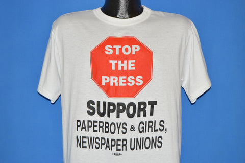 80s Stop The Press Newspaper Union t-shirt Large