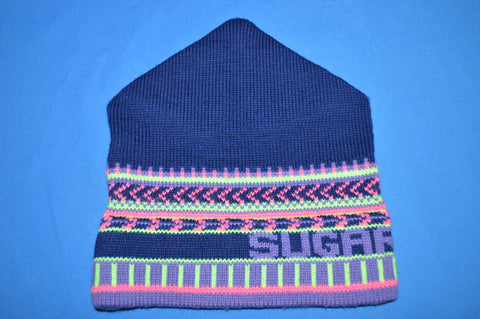 90s Sugarbush Purple Wool Winter Hat