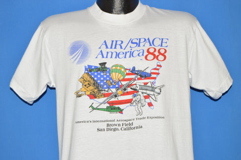 80s Air/Space America 1988 Aerospace Expo t-shirt Large