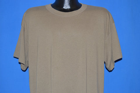80s Brown Tee Swing Blank t-shirt Extra Large