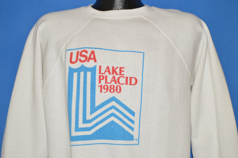 80s Lake Placid Olympics Winter 1980 Sweatshirt Large