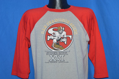 80s San Francisco 49ers Niners Superbowl XVI Jersey t-shirt Large