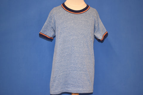 80s Blue And Orange Blank Ringer t-shirt Youth Large