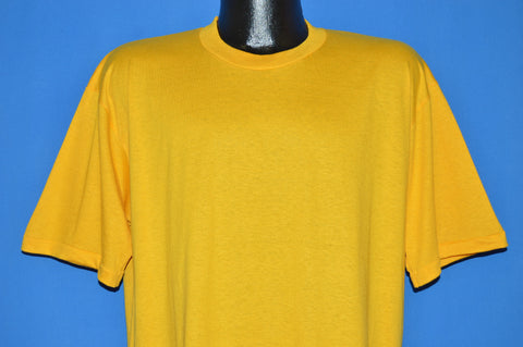 80s Yellow JERZEES blank t-shirt Extra Large