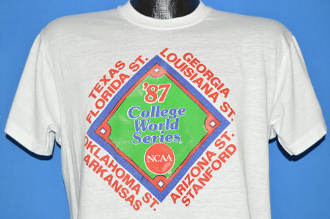80s Stanford Cardinal 1987 College World Series t-shirt Large