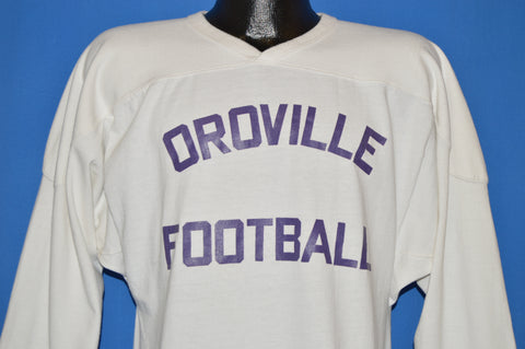 70s Oroville Football V-Neck Jersey t-shirt Medium