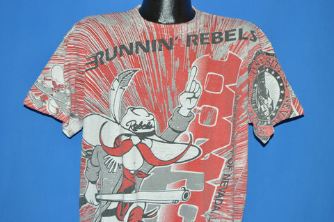 90s UNLV Runnin Rebels All Over Print t-shirt Extra Large