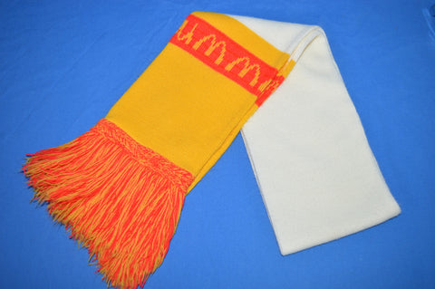 80s McDonalds White Yellow Winter Scarf
