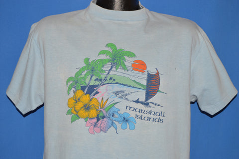 80s Marshall Islands Sunset Hibiscus t-shirt Large