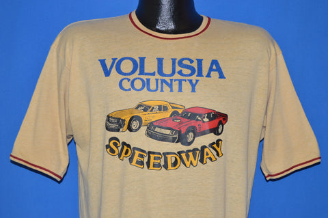 70s Volusia County Speedway Racing t-shirt Large