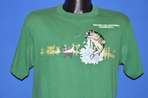 80s Paradise Lake Campground Fishing t-shirt Medium