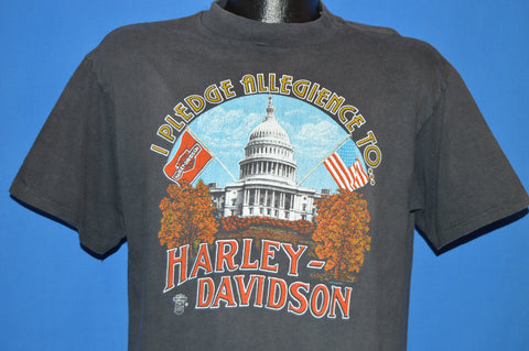 80s Harley Davidson Pledge Allegiance t-shirt Medium