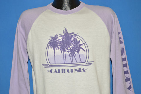 80s Monterey California Purple Palm Trees t-shirt Large