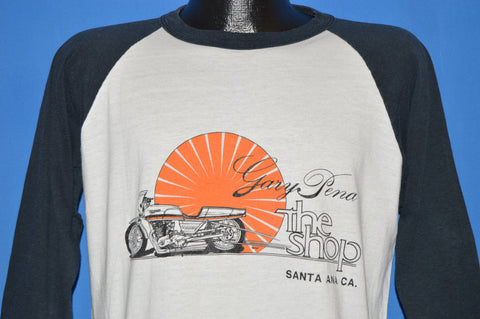 80s Gary Pena Motorcycle Shop t-shirt Large