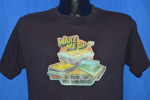 80s Wake Me in Time for the Weekend Iron On t-shirt Medium