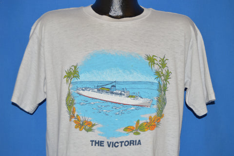 80s The Victoria Tropical Cruise Liner t-shirt Large