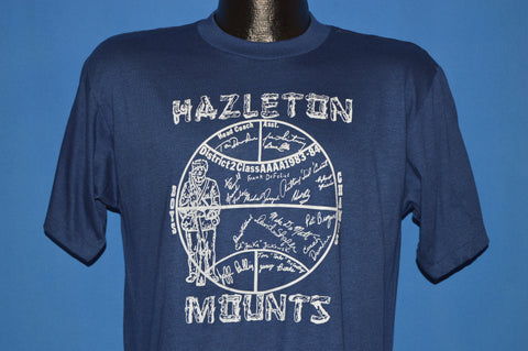 80s Hazleton Mounts Basketballl t-shirt Medium