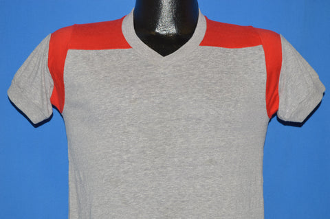 70s Champion Gray Ringer t-shirt Youth Extra Large