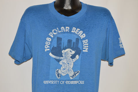 80s 1988 Polar Bear Run Indianapolis Distressed t-shirt Medium