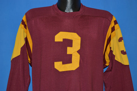 70s Russell Maroon Roman Jersey Large