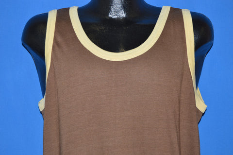 70s Sears Brown Tank Top t-shirt Extra Large