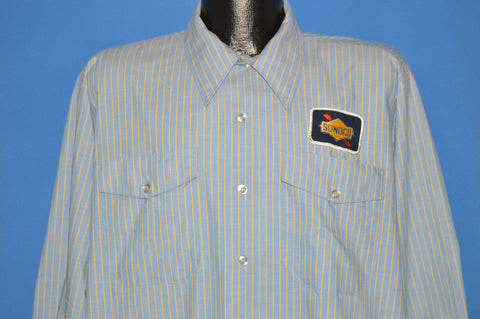 70s Sunoco Oil Gas Station Uniform Shirt Extra Large