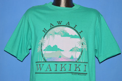 80s Hawaii Waikiki Harbor Sunset t-shirt Large