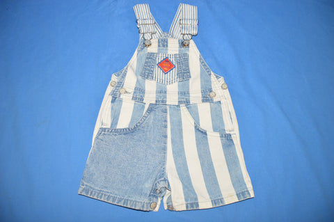 80s Levis Denim Striped Shortalls 2T