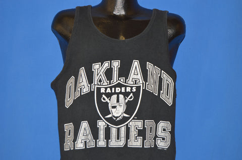 90s Oakland Raiders NFL Logo Tank Top t-shirt Large