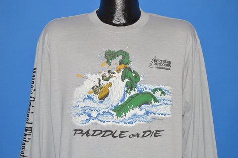 80s Northern Outdoors Whitewater Rafting t-shirt XL