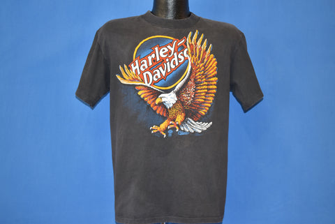 80s Harley Davidson Ft. Pierce Florida Eagle t-shirt Large